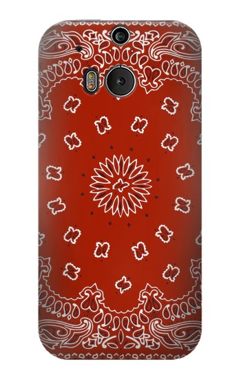 Printed Bandana Red Pattern HTC One M8 Case