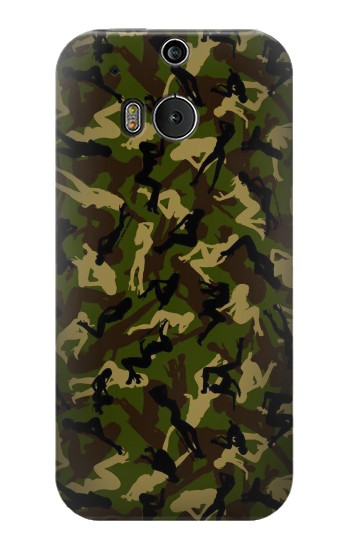 Printed Sexy Girls Camo HTC One M8 Case