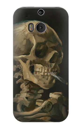 Printed Vincent Van Gogh Head Skeleton Cigarette HTC One M8 Case
