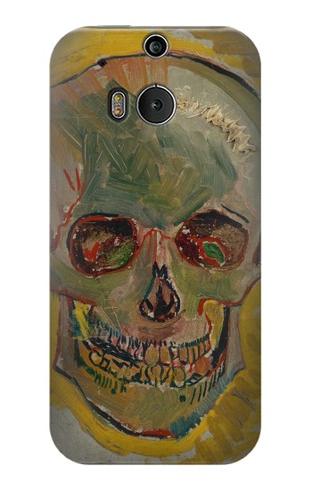 Printed Vincent Van Gogh Skull HTC One M8 Case