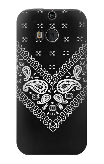 Printed Bandana Black Pattern HTC One M8 Case
