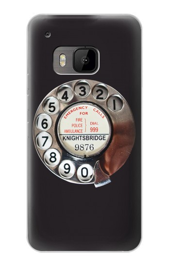 Printed Retro Rotary Phone Dial On HTC One M9 Case