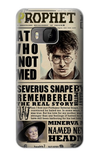 Printed Harry Potter Daily Prophet HTC One M9 Case