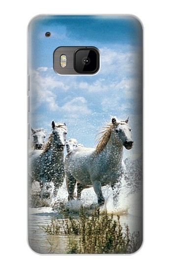 Printed White Horse 2 HTC One M9 Case