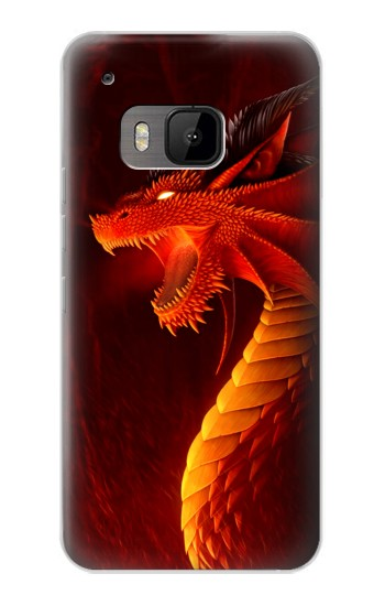 Printed Red Dragon HTC One M9 Case