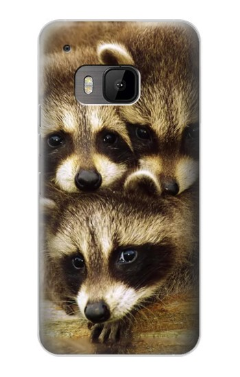 Printed Baby Raccoons HTC One M9 Case