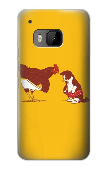 Printed Rooster and Cat Joke HTC One M9 Case