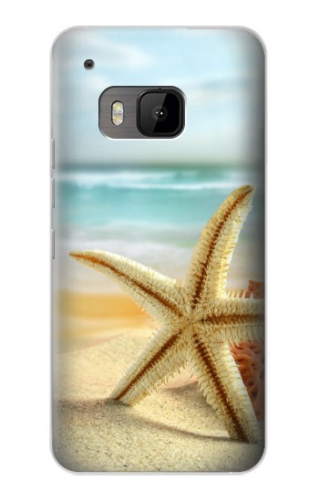 Printed Starfish on the Beach HTC One M9 Case