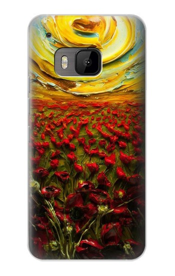Printed Flower Sun Oil Painting HTC One M9 Case