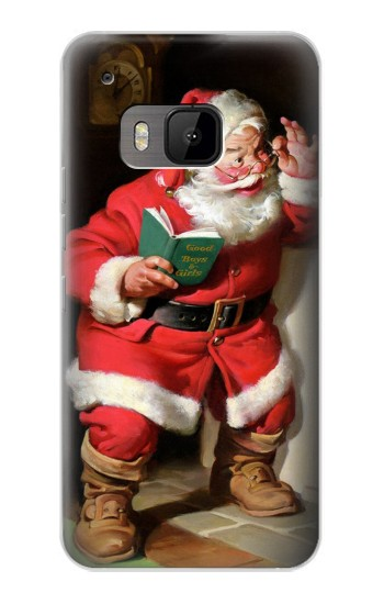 Printed Santa Claus Merry Xmas HTC One M9 Case