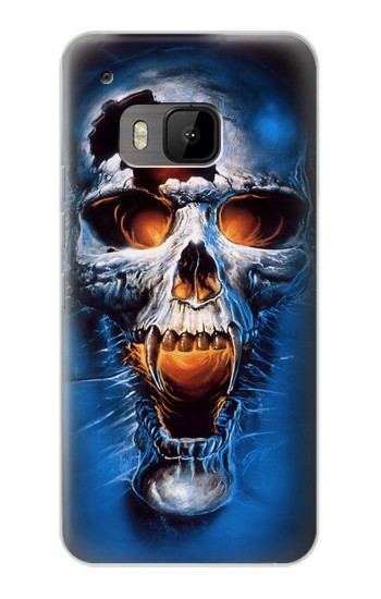 Printed Vampire Skull HTC One M9 Case