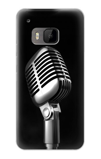 Printed Retro Microphone Jazz Music HTC One M9 Case