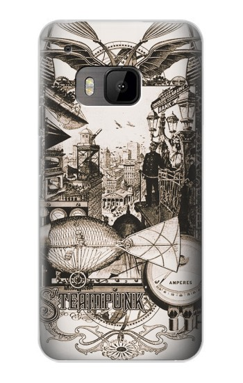 Printed Steampunk Drawing HTC One M9 Case