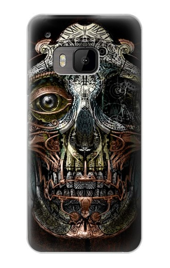 Printed Steampunk Skull Head HTC One M9 Case