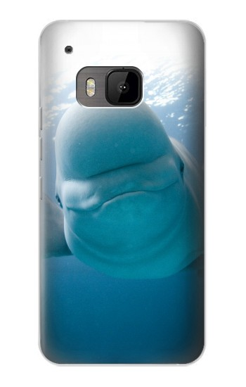 Printed Beluga Whale Smile Whale HTC One M9 Case