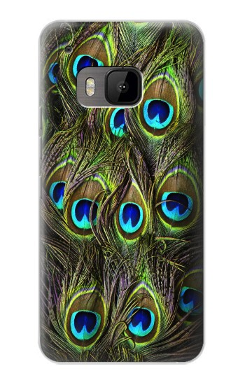 Printed Peacock Feather HTC One M9 Case