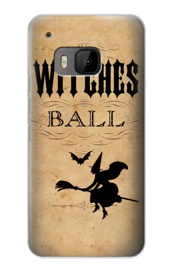 Printed Vintage Halloween The Witches Ball HTC One M9 Case