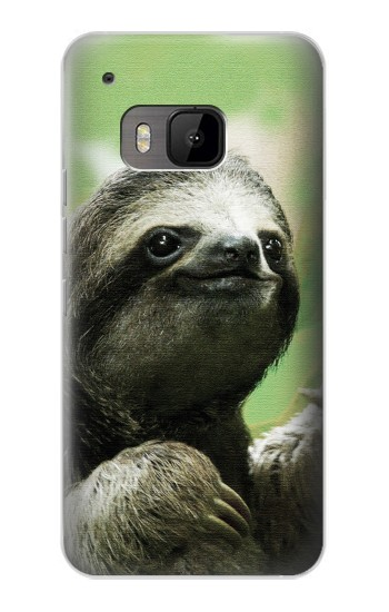 Printed Smiling Sloth HTC One M9 Case