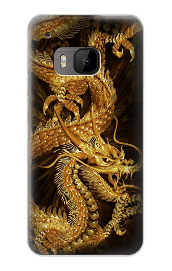 Printed Chinese Gold Dragon Printed HTC One M9 Case