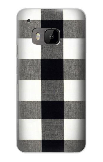 Printed Black and White Buffalo Check Pattern HTC One M9 Case