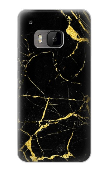 Printed Gold Marble Graphic Printed HTC One M9 Case