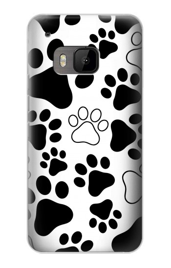 Printed Dog Paw Prints HTC One M9 Case