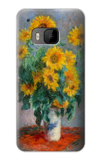 Printed Claude Monet Bouquet of Sunflowers HTC One M9 Case