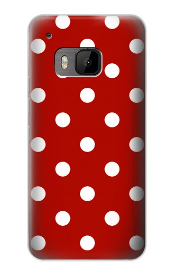 Printed Red Polka Dots HTC One M9 Case