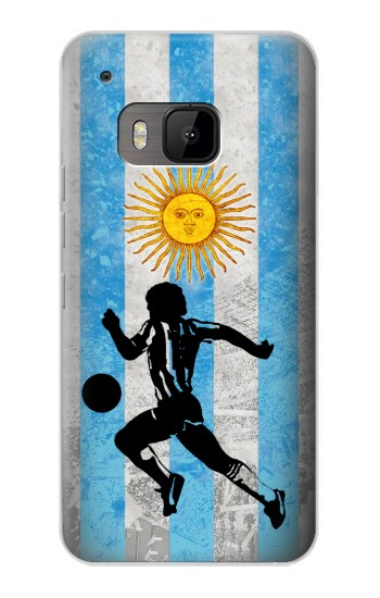 Printed Argentina Football Flag HTC One M9 Case