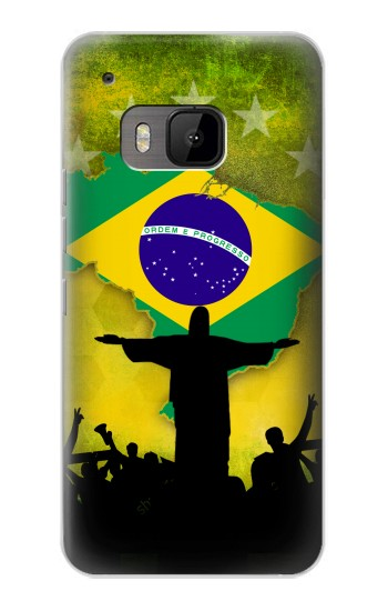 Printed Brazil Football Flag HTC One M9 Case
