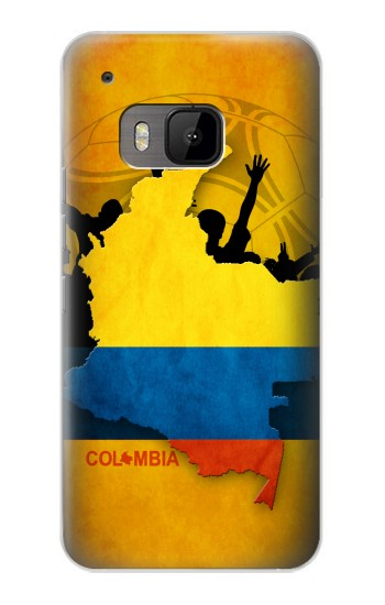 Printed Colombia Football Flag HTC One M9 Case