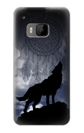 Printed Dream Catcher Wolf Howling HTC One M9 Case