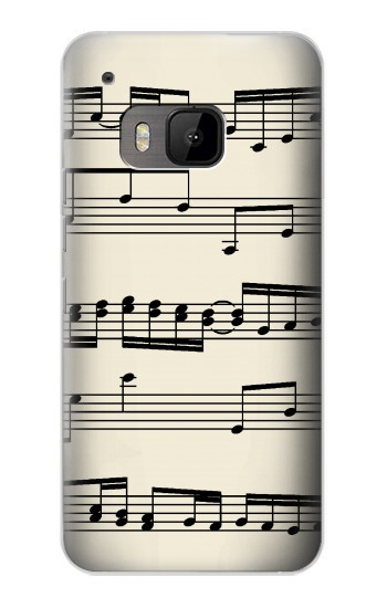 Printed Music Sheet HTC One M9 Case