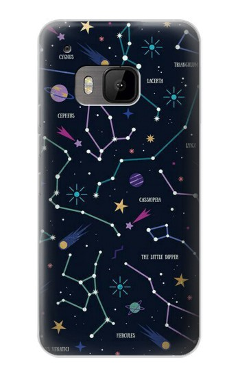 Printed Star Map Zodiac Constellations HTC One M9 Case