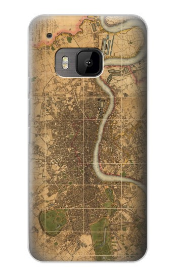Printed Vintage Map of London HTC One M9 Case