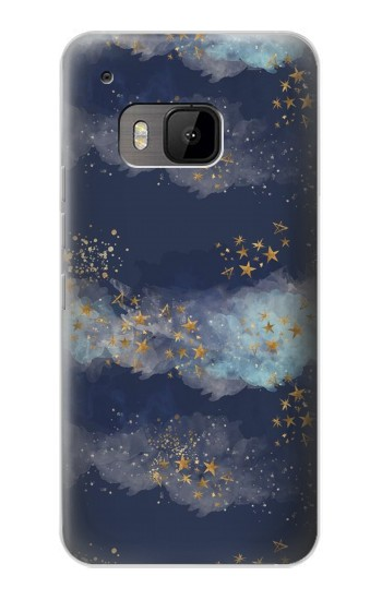 Printed Gold Star Sky HTC One M9 Case