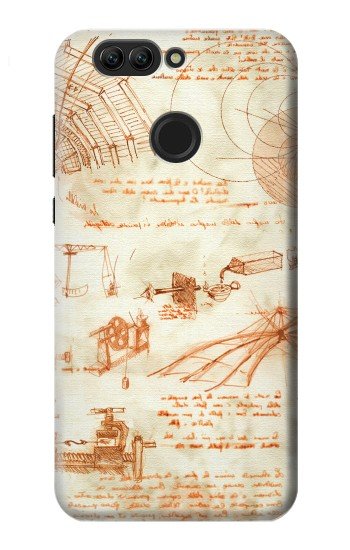 Printed Technical Drawing Da Vinci Huawei nova 2 Case