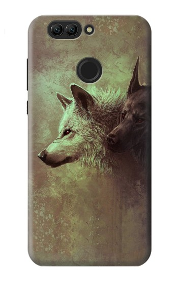 Printed White Black Wolf Huawei nova 2 Case