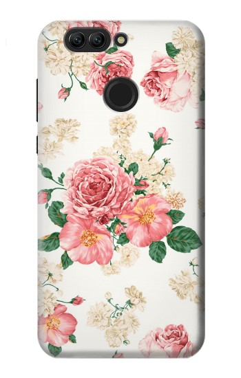 Printed Rose Pattern Huawei nova 2 Case