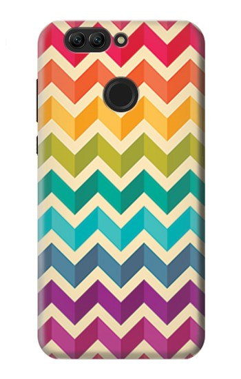 Printed Rainbow Colorful Shavron Zig Zag Pattern Huawei nova 2 Case