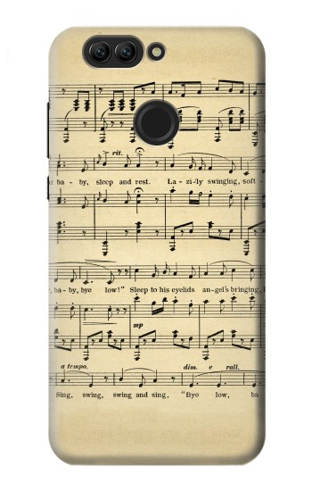 Printed Vintage Music Sheet Huawei nova 2 Case