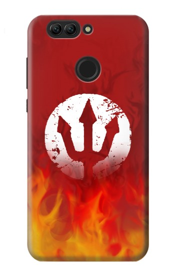 Printed Fire Red Devil Symbol Huawei nova 2 Case