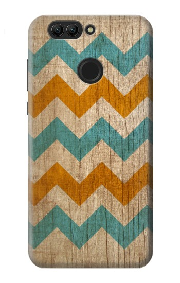 Printed Vintage Wood Chevron Huawei nova 2 Case