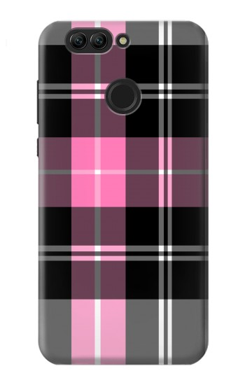 Printed Pink Plaid Pattern Huawei nova 2 Case