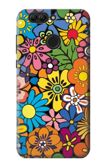 Printed Colorful Flowers Pattern Huawei nova 2 Case