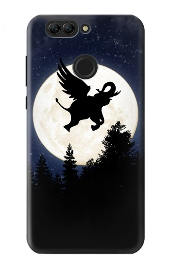 Printed Flying Elephant Full Moon Night Huawei nova 2 Case