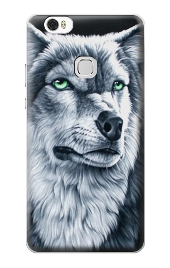 Printed Grim White Wolf Huawei Ascend G630 Case