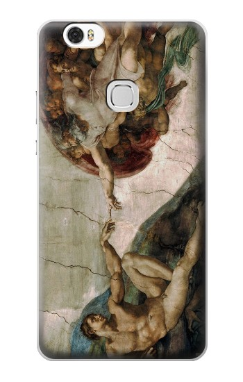Printed Michelangelo The creation of Adam Huawei Ascend G630 Case