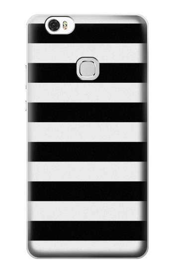 Printed Black and White Striped Huawei Ascend G630 Case