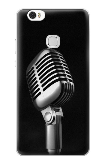 Printed Retro Microphone Jazz Music Huawei Ascend G630 Case